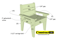Outdoor Chair Plans - Easy-to-Build (free PDF) - Construct101