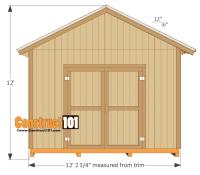 12x16 Shed Plans - Gable Design - Construct101