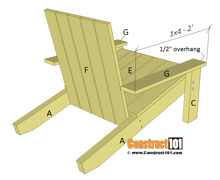 Simple Adirondack Chair Plans Diy Step By Step Project