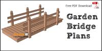 Flat Garden Bridge Plans - DIY Landscape Bridge - Construct101