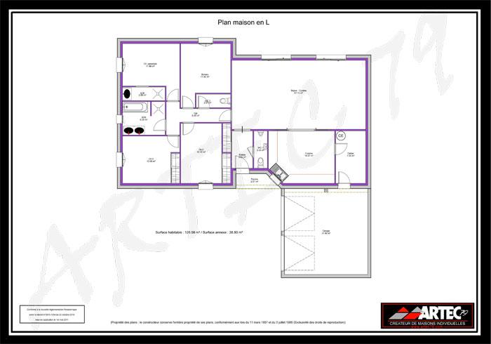 planmaisoenljpg (700×490) Plan Maison Pinterest House