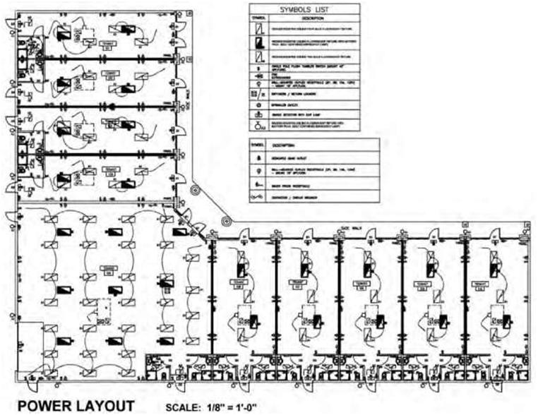 electrical plan for commercial building