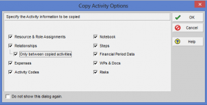 Copy Activity Options