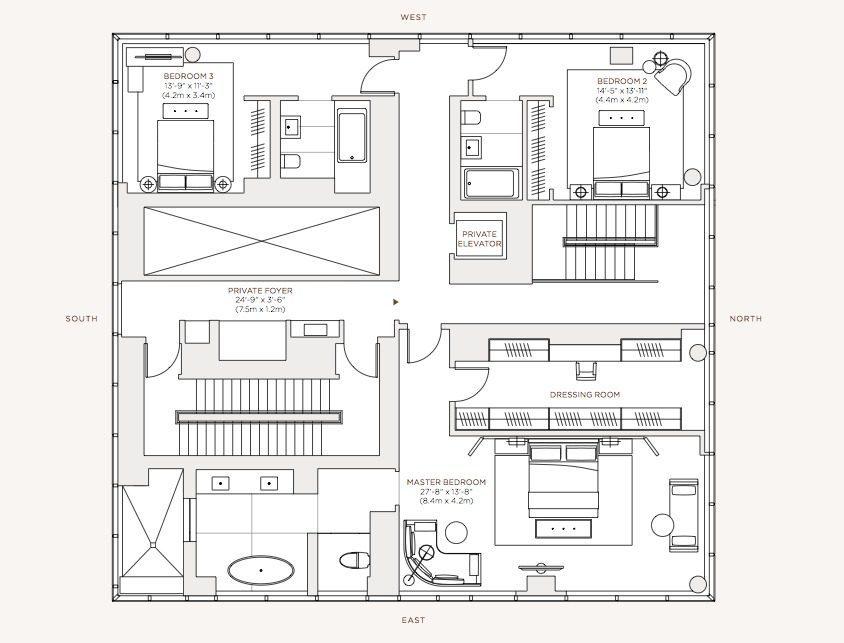 Diseno De Apartamento De Lujo Con Decoracion Y Planos