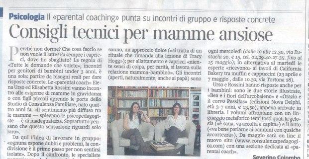 Corriere della Sera Milano  del Aprile 2013 – Intervista