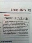 Corriere della Sera Milano del Febbraio 2013 - Incontri al California Bakery