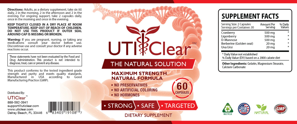 UTI Clear™ The #1 Urinary Tract Infection Prevention And Support