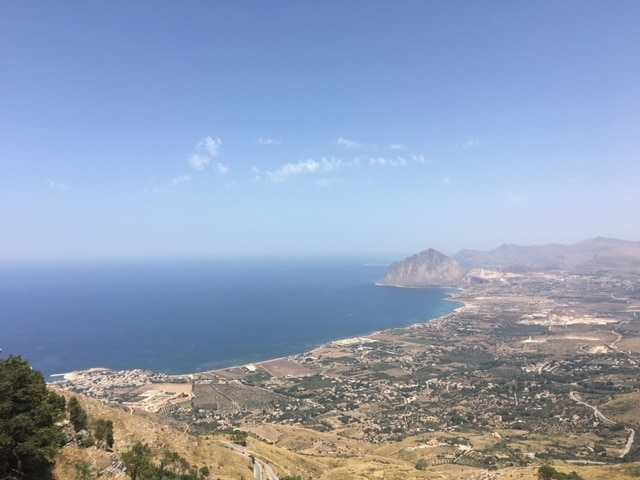 Valley and Sea Below Erice, Sicily