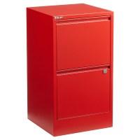 Bisley Red 2- & 3-Drawer Locking Filing Cabinets | The ...