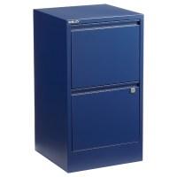 Bisley Oxford Blue 2- & 3-Drawer Locking Filing Cabinets ...