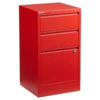 Red Bisley 2- & 3-Drawer Locking Filing Cabinets | The ...