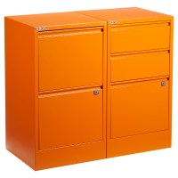 Orange Bisley 2- & 3-Drawer File Cabinets | The Container ...