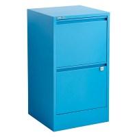Bisley Cerulean Blue 2- & 3-Drawer Locking Filing Cabinets ...