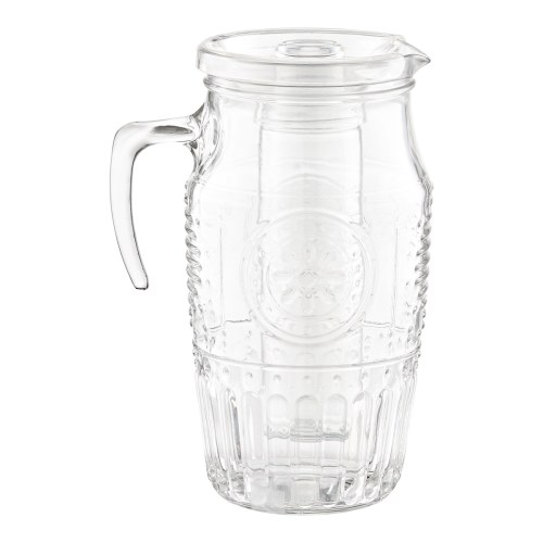Medium Of Glass Pitcher With Lid