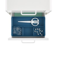 Poppin Slate Blue 2-Drawer Locking Stow Filing Cabinet ...