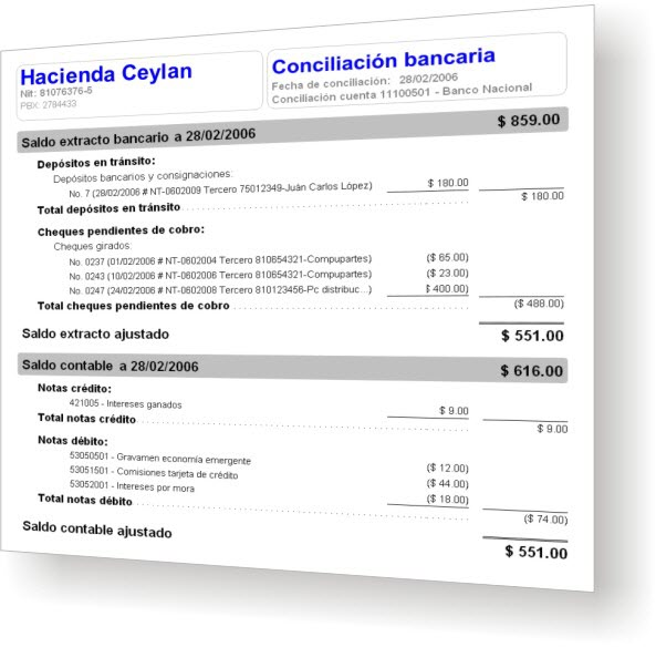AgroWin Conciliación bancaria