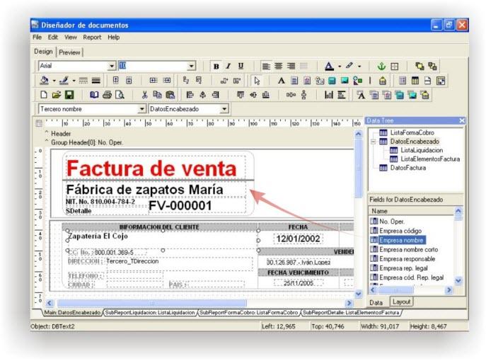 ContaPyme Diseñador de documentos