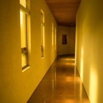 Corridor leading to the Mary chapel.