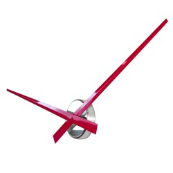 Small Crop Of Large Wall Clock Red