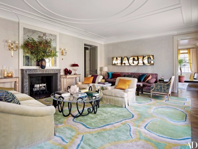 10 More Amazing Living Room Rugs In Architectural Digest - living room rugs modern
