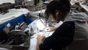 Textile worker in Shanghai Factory; photo from METIS research trip