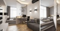 Small Apartment Design Idea - Separate The Bedroom By ...