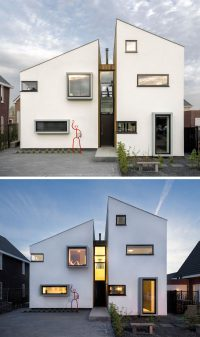 This Modern House Has A Window Seat With A View Of The ...