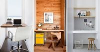 Small Home Office Idea - Make use of a small space and ...