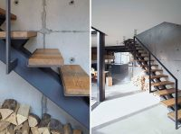Stairs Design Idea - Combine Wood And Metal For A Warm ...