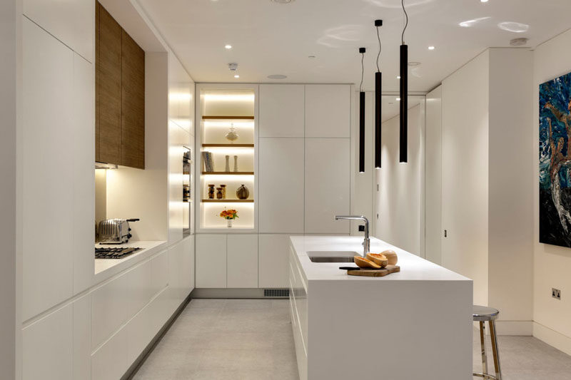 Kitchen Design Idea - White, Modern and Minimalist Cabinets - contemporary kitchen design