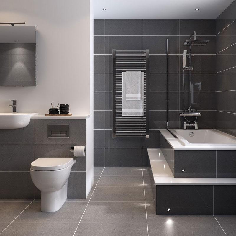 Bathroom Tile Idea - Use Large Tiles On The Floor And Walls (18 - bathroom tile ideas