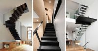 12 Black Stairs That Add A Sophisticated Touch To These ...