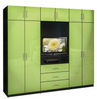 Aventa Bedroom Wall Unit X-Tall - TV Wall Unit w Extra ...