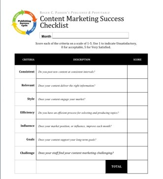 Worksheet for measuring content success, CMI