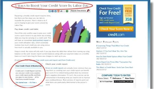 website redesign, boost your credit score, CMI