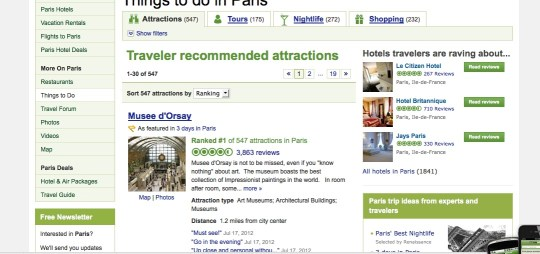 tripadvisor, travel content examples, CMI