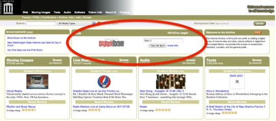 wayback machine, your brand's most compelling story, CMI