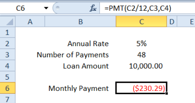 Learn About Pmt Function In Excel 2007 In Detail. - Techyv.com