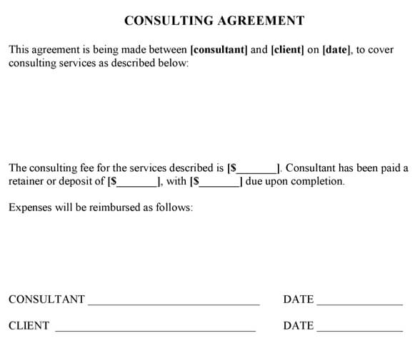 Sample Consulting Agreement Template Word - consulting agreement