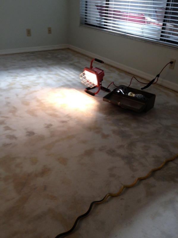 Glue Removal From Concrete Floor - Flooring - Contractor Talk