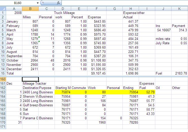 Mileage Logs - General Discussion - Contractor Talk - business mileage log