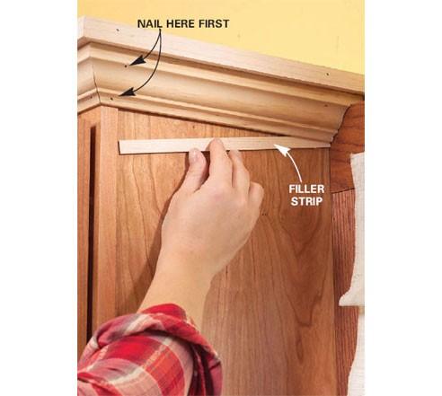 Crown Installation On Kitchen Cabinets Issue Finish