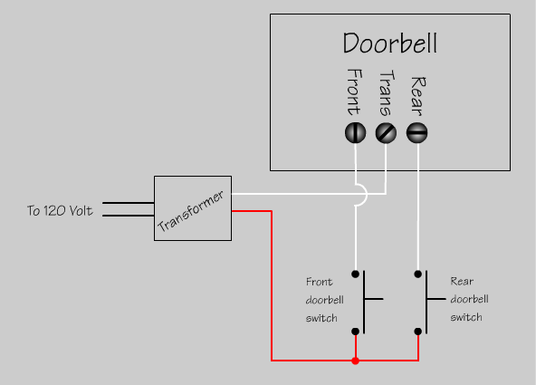 wiring diagram lighted doorbell button