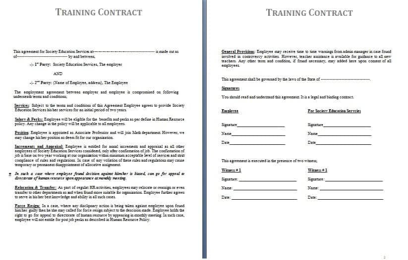 Sample Agreement Form Sample Agreement Templates In Microsoft Word - agreement for labour contract