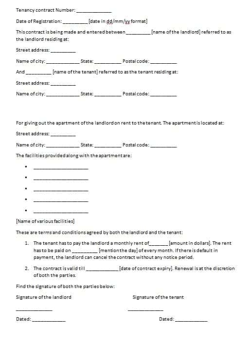 Free Contract Templates - Word - PDF - Agreements - Part 2 - monthly payment contract template