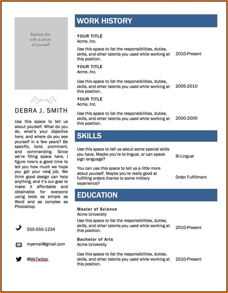 Resume Format Word 2010 - 50 Free Microsoft Word Resume Templates
