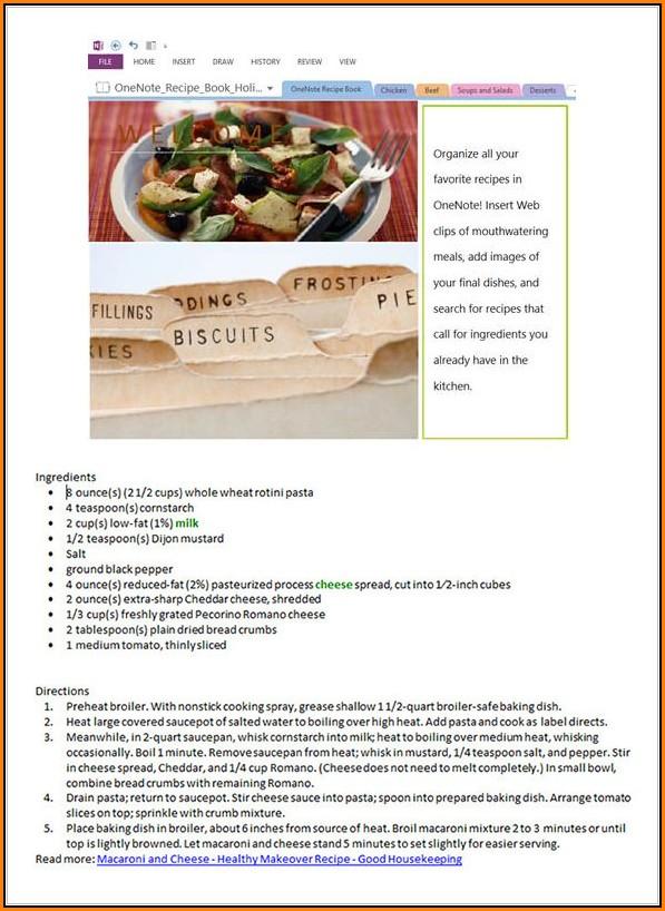 Recipe Cookbook Templates Free Download - Template 2  Resume