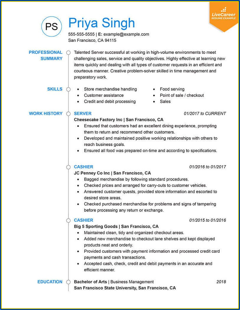 update resume format for freshers
