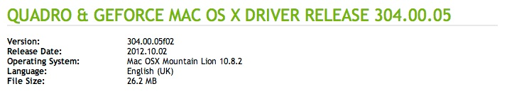 Nvidia Driver 304.00.05 is available!