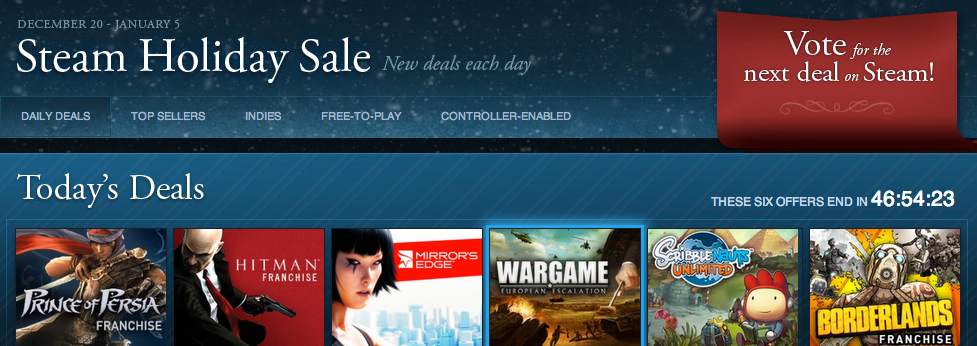 The Moment You've Been Waiting For: Steam Holiday Sale